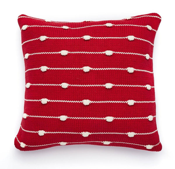 Pure Cotton Knitted Pillow, Waves on the Shore