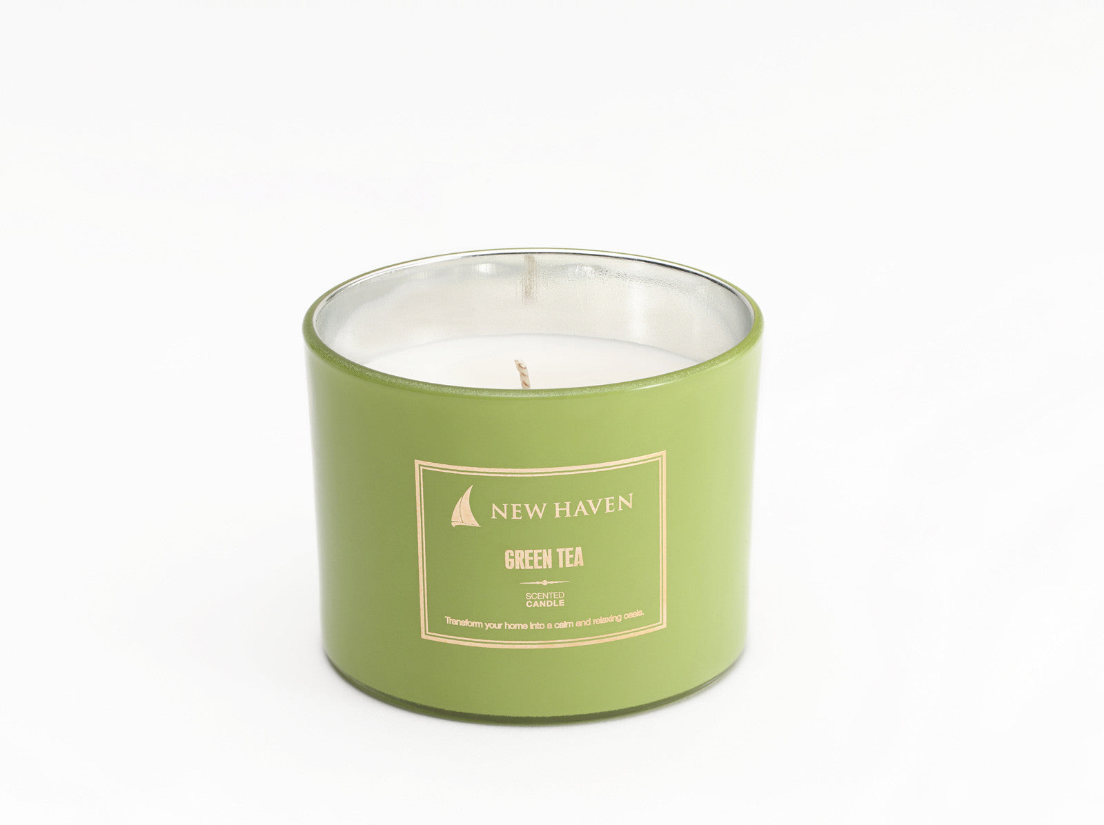 Green Tea Scented Candle - New Haven Collection