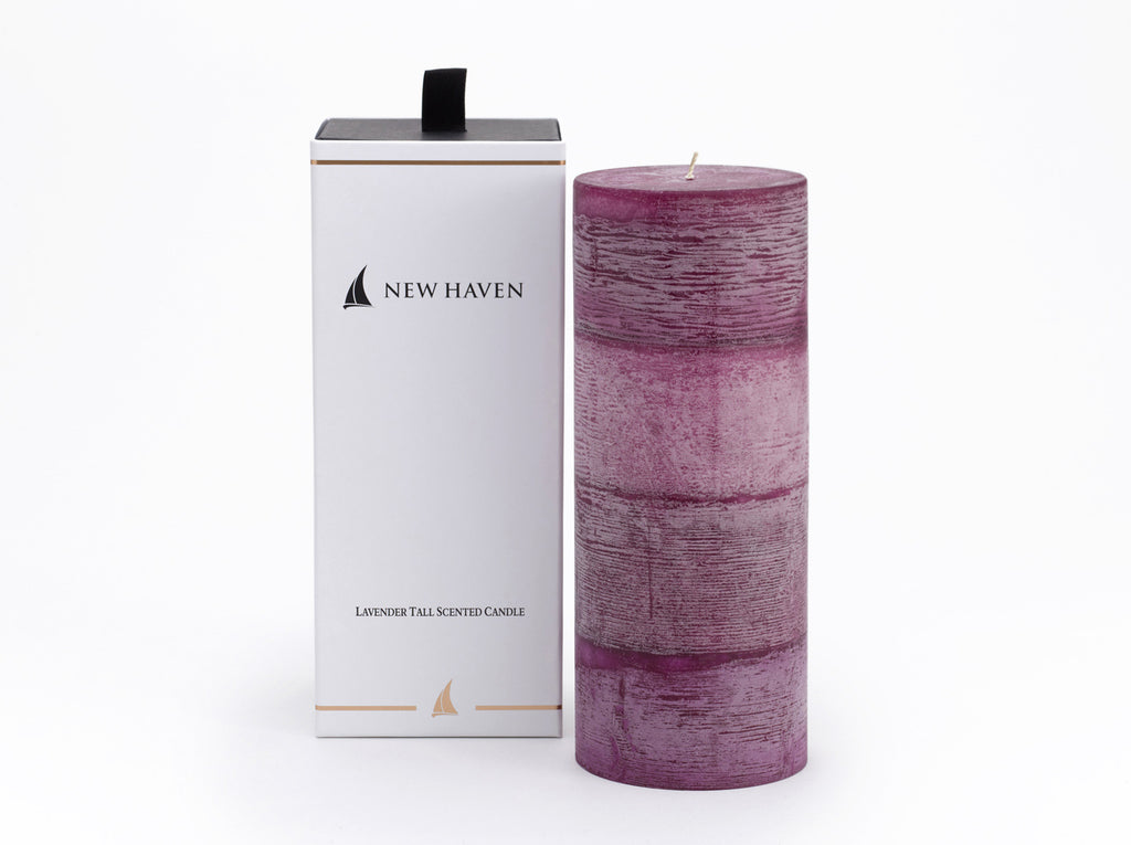 New Haven - Lavender Tall Scented Candle