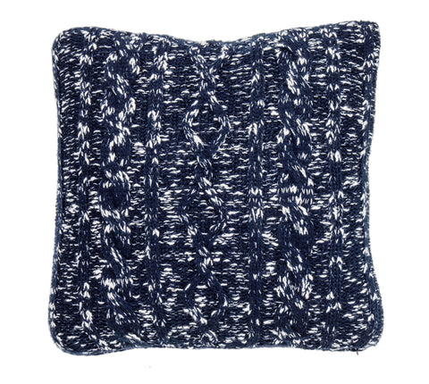 Pure Cotton Knitted Pillow, Glimmer on the Polar Sea