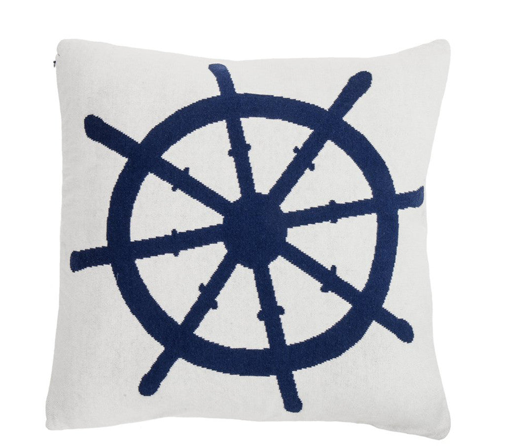 Pure Cotton Knitted Pillow, The Helmsman