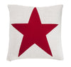 Pure Cotton Knitted Pillow, Red Sailor Star