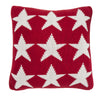 Pure Cotton Knitted Pillow, White Sailor Stars