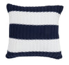 Pure Cotton Knitted Pillow, Sailor Stripes