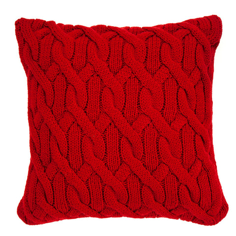 Knitted Pillow, Seamless Knots