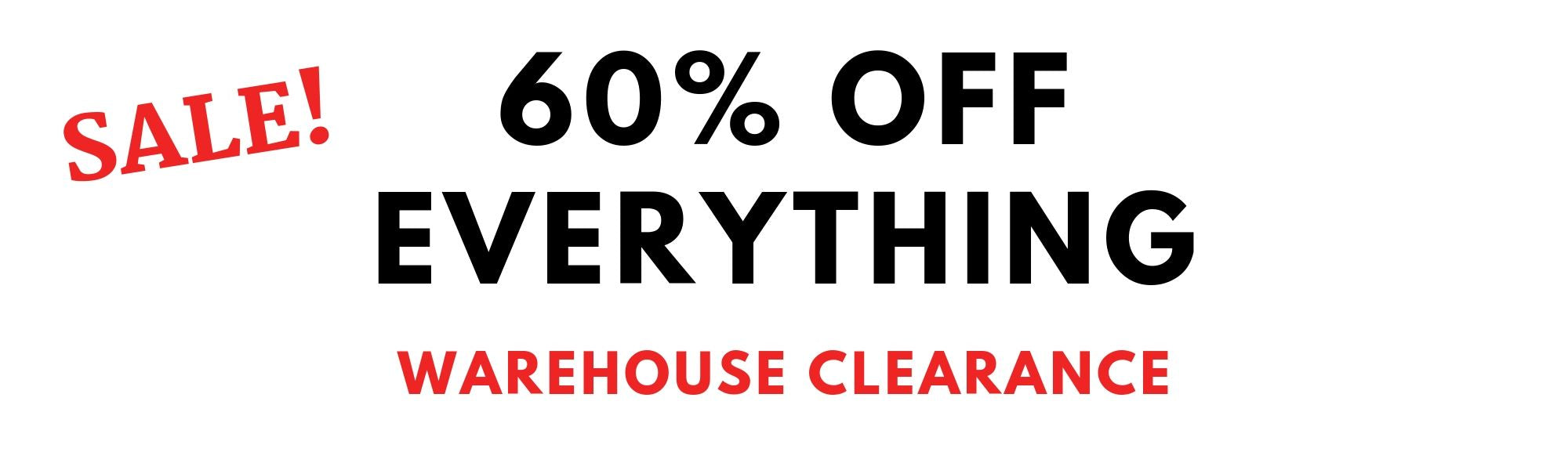 Warehouse Clearance Sale! 60% off the best performance lifestyle gym activewear clothes