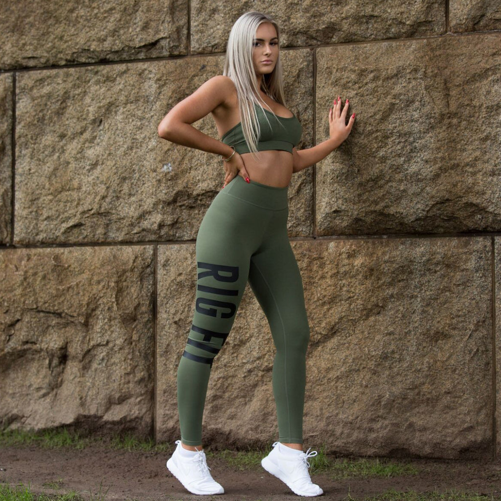 Khaki RGFT Activewear Tights