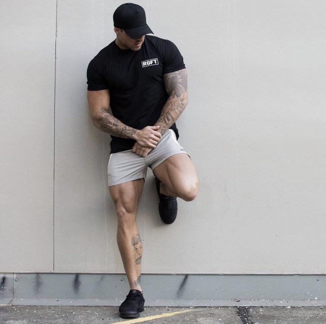 Grey RGFT Running Shorts