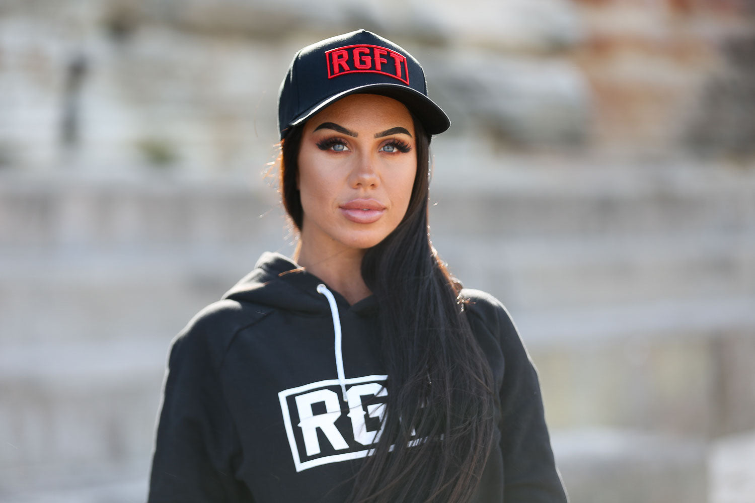 RGFT Boxed A Frame Black/Red Snapback Bondi Beach