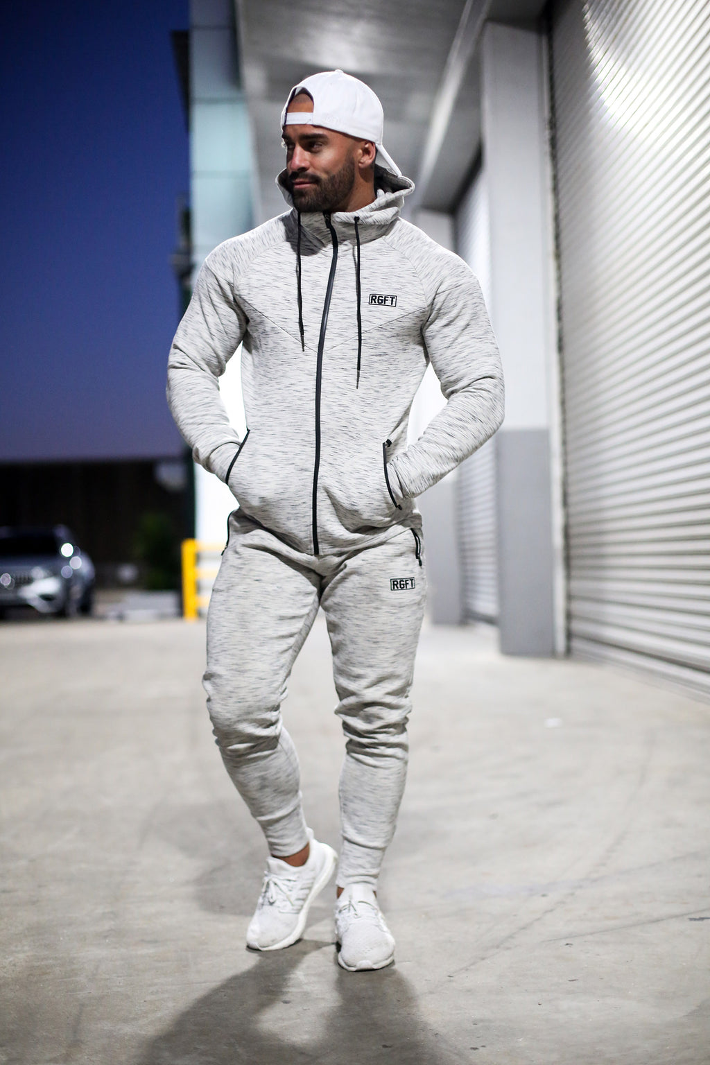 Grey RGFT Thermal Zip-Up Hoodie