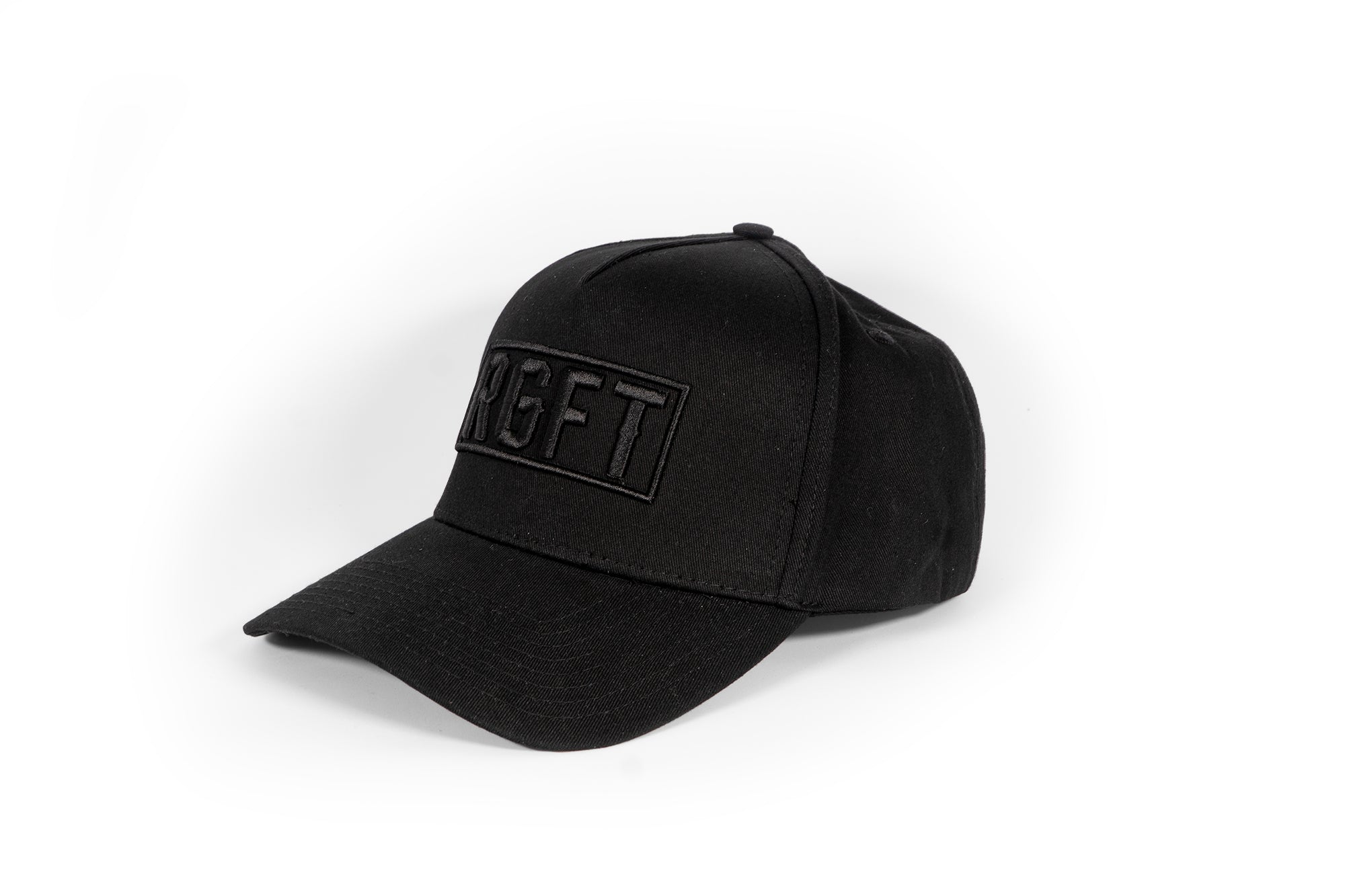 All Black RGFT Boxed A Frame Snapback Hat - Rig-Fit