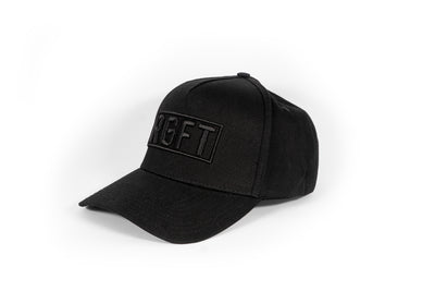 All Black RGFT Boxed A Frame Snapback
