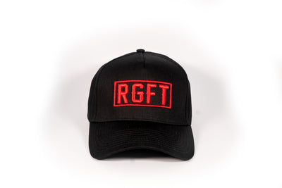 Black/Red RGFT A Frame SnapBack - front view