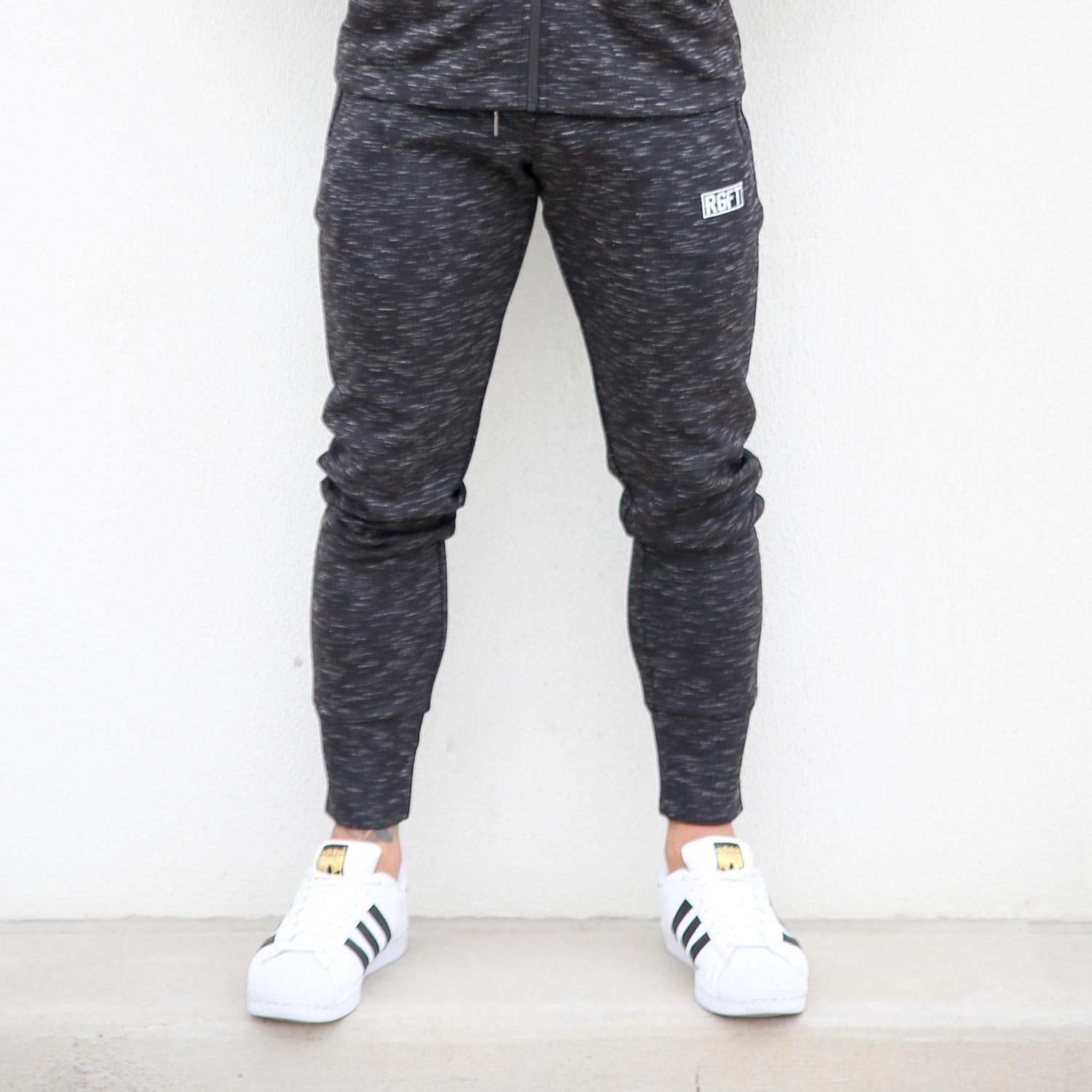Black RGFT Thermal Straight-Leg Track Pants