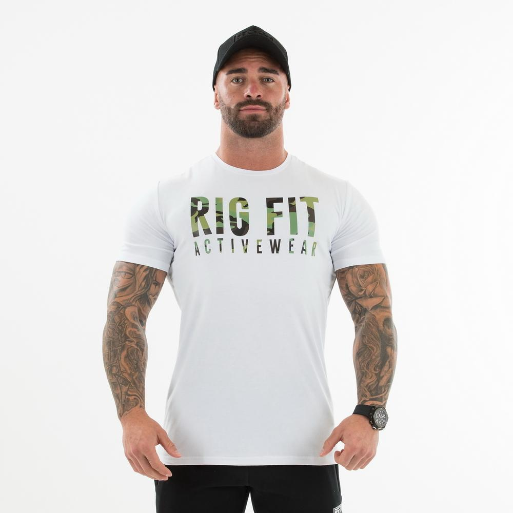 White and Green Camo T-shirt