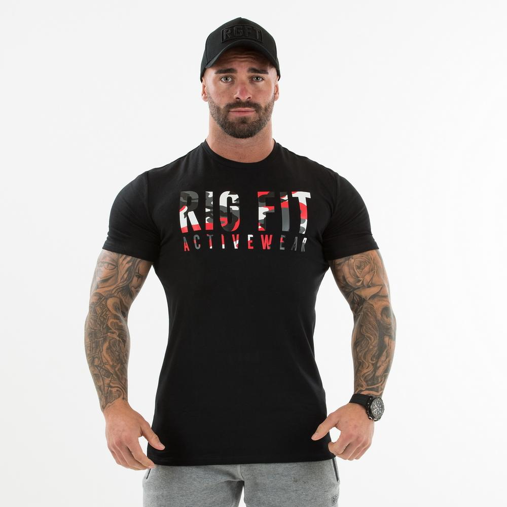 Black and Red Camo T-shirt