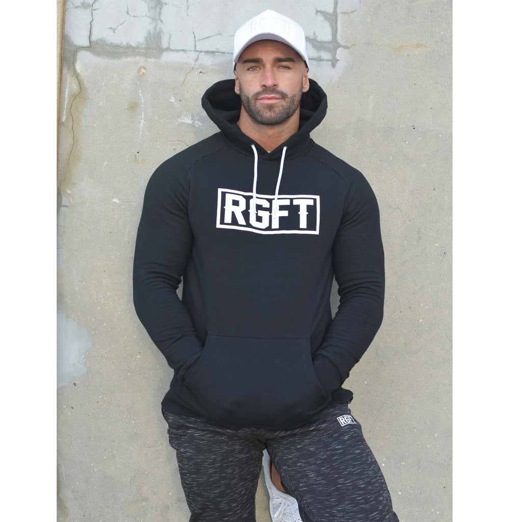 Black RGFT - Super Stretch -  Premium Fleece Hoodie