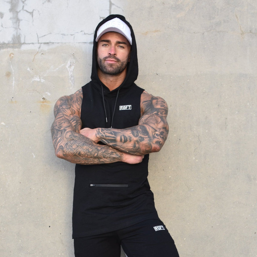 Black RGFT - Super Stretch - Sleeveless Hoodie