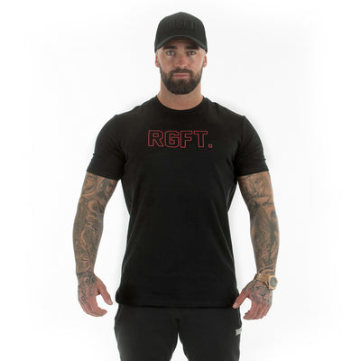 Black-Red RGFT Hollow T-Shirt