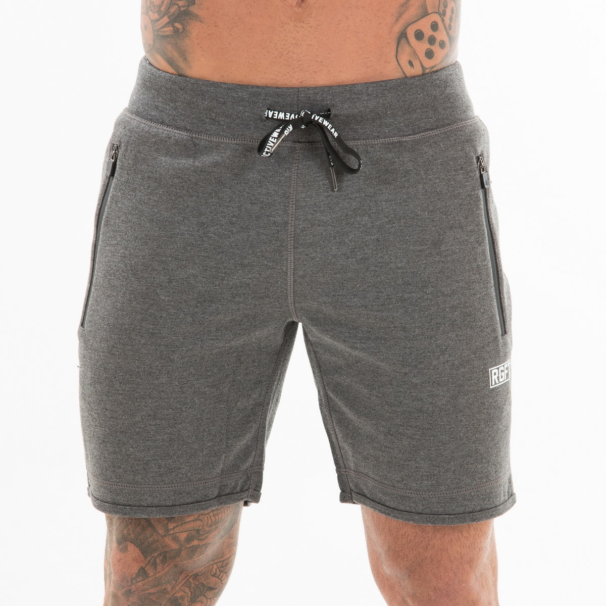 Dark Grey RGFT Fleece Shorts