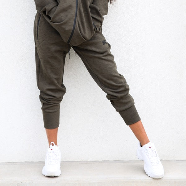 Khaki RGFT Thermal Straight-Leg Track Pants