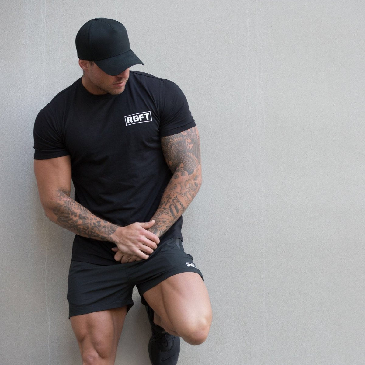 Black RGFT Running Shorts