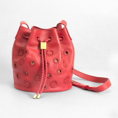 Layla Mini Bucket, Red