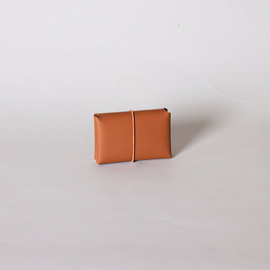 Unisex Leather Card Holder, Tan