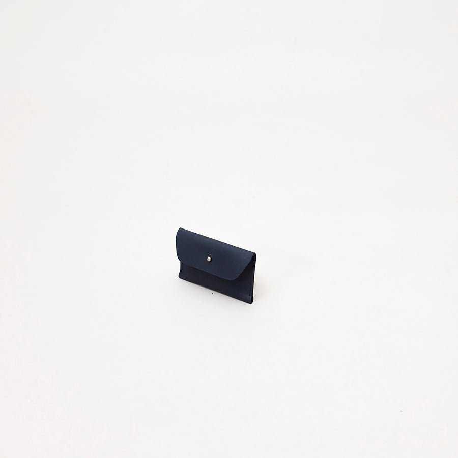 Unisex Leather Card Case, Navy Blue