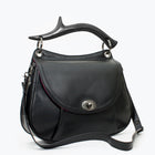 Antler Leather Crossbody, Black