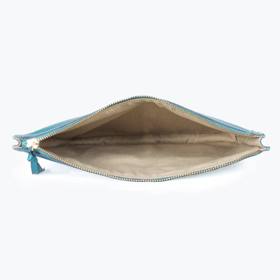 Nishka Document Case-Teal