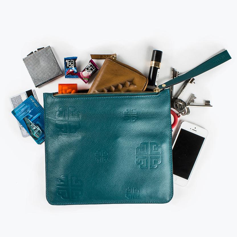 Alex travel clutch, Teal