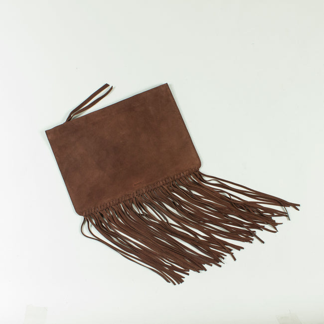 Copy of Shailly leather fringe clutch