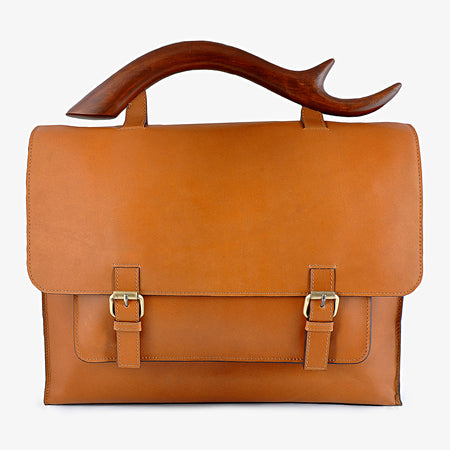 Antler Leather Men's Messenger bag, Tan
