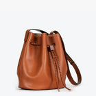 Layla Leather Bucket Bag, Tan