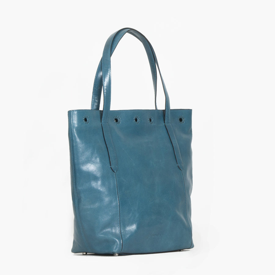 Leather Market Tote