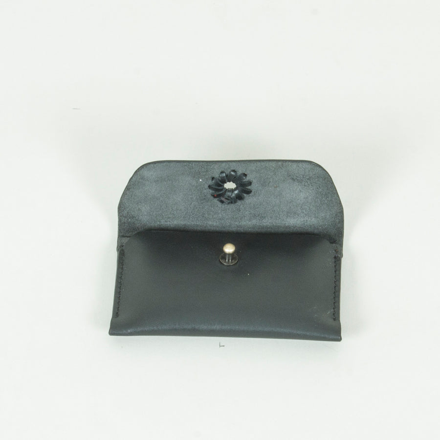 Unisex Leather Card Case, Black