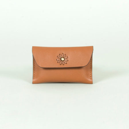 Tove leather card case, Tan