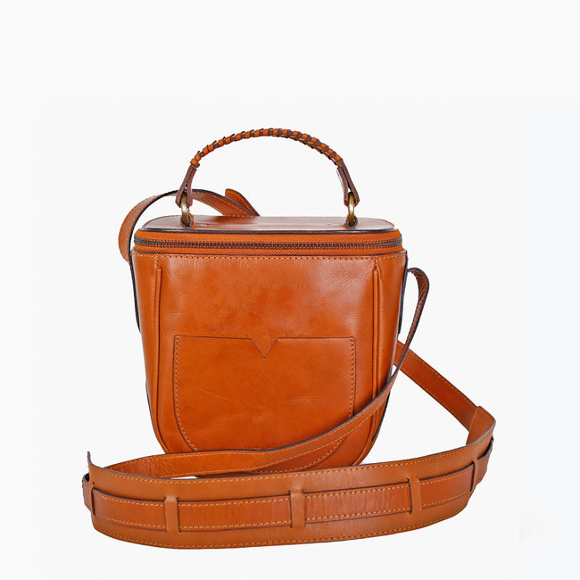 Camera crossbody Bag-Tan