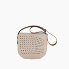 Punched Mini Saddle bag in Nude
