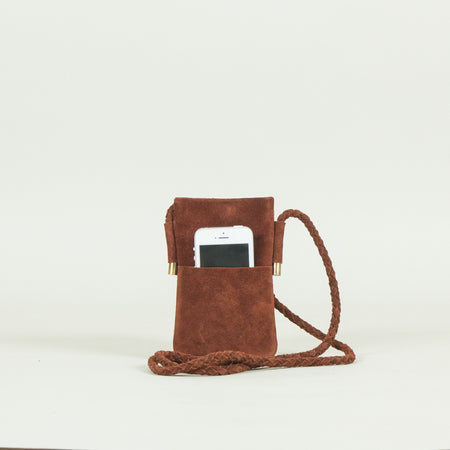 Leather Mobile Holder, Tan