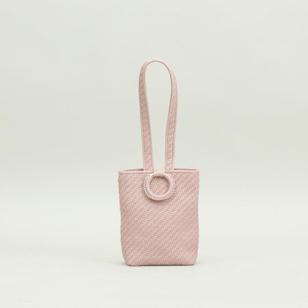Bette Woven Clutch, Dusty Pink