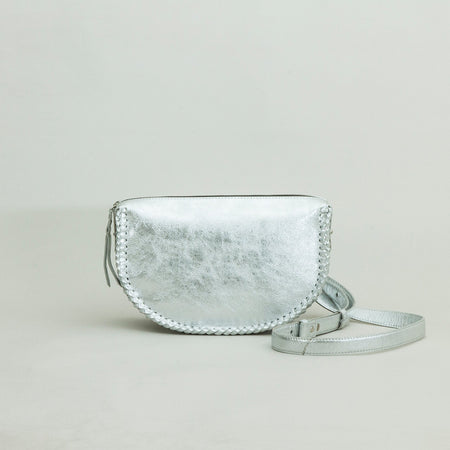 Half Moon crossbody, Silver