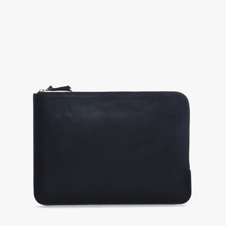 Unisex leather laptop sleeve (15 inch) (Black)