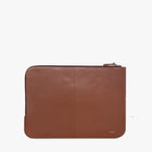 Unisex leather laptop sleeve (13 inch) (Tan)