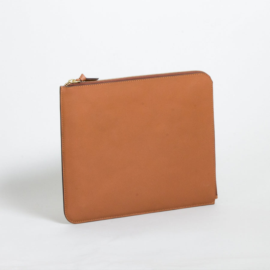 Leather IPAD sleeve, Tan