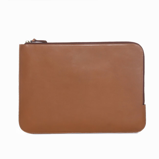 Leather laptop sleeve (13 inch) (Tan)
