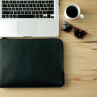 Unisex leather laptop sleeve (13 inch) (Black)