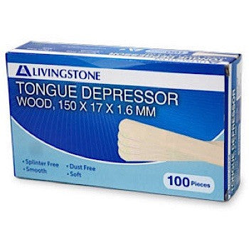 Tongue Depressor Wooden Wax Applicators 100 pack
