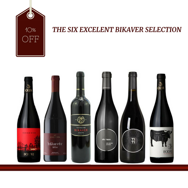 The Six Excellent Bikaver Selection with 10% off